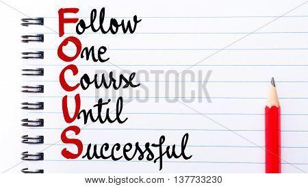 Focus Follow One Course Until Successful