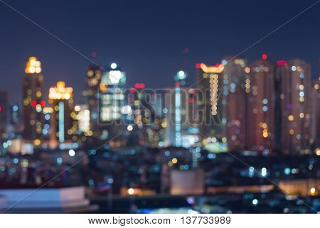 Blurred light city lights colourful background night view