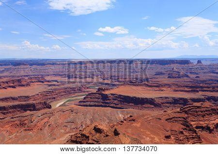 Utah Panorama. Colorado River Canyon.
