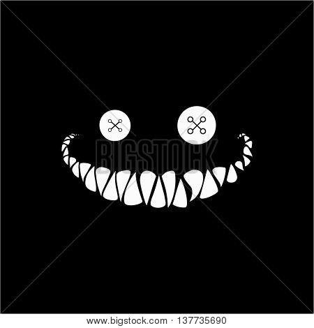 Evil smile vector . Creepy smile vector .