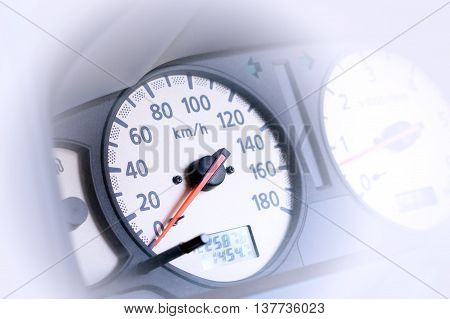 transportation, Close up of car speed meter
