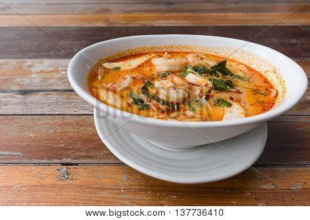 Spaghetti Tom Yum Goong From Thailand