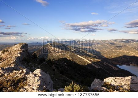 Sunset on La Picos. Peak near Valderrobres