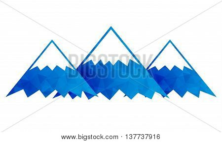 Mountains icon. High peak sign. Mountains logo. Usable for company logo. Vector illustration.