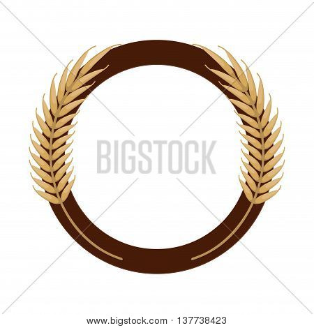 Wheat spike icon design Isolated vector illustration
