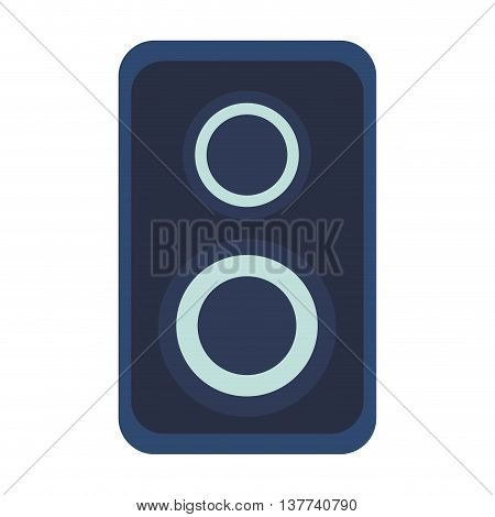 Acoustic speaker audio sound Isolated vector illustration