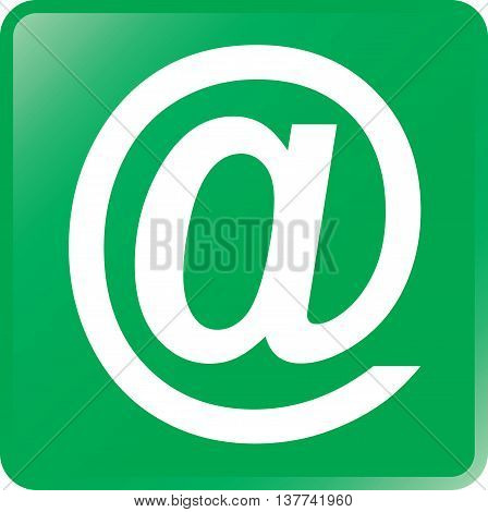 Vector Email Concept Icon White on Green
