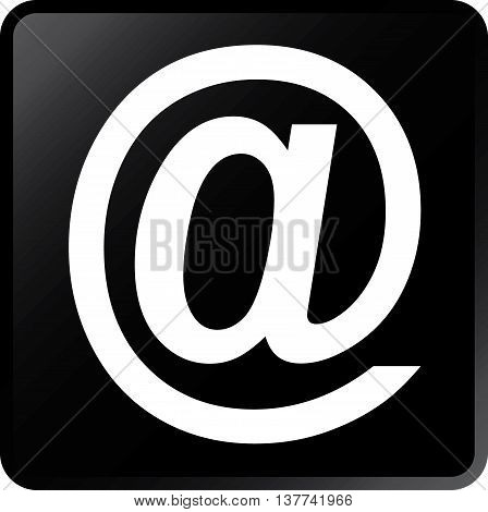 Vector Email Concept Icon White on Black