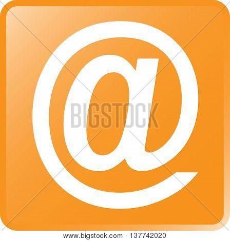 Vector Email Concept Icon White On Orange