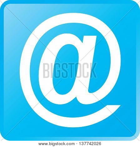 Vector Email Concept Icon White on Cyan