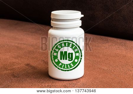 Bottle Of Pills With Magnesium