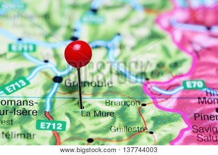 La Mure pinned on a map of France