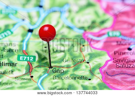 Gap pinned on a map of France