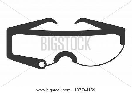 flat design modern frame glasses icon vector illustration
