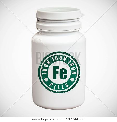 Bottle Of Pills With Iron Fe