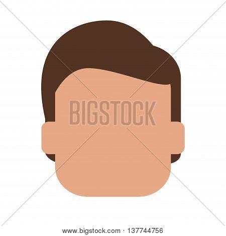 flat design faceless head of man icon vector illustration