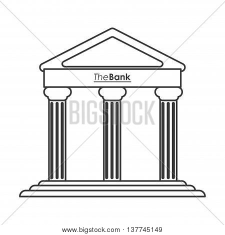 flat design ancient greek building icon vector illustration line design