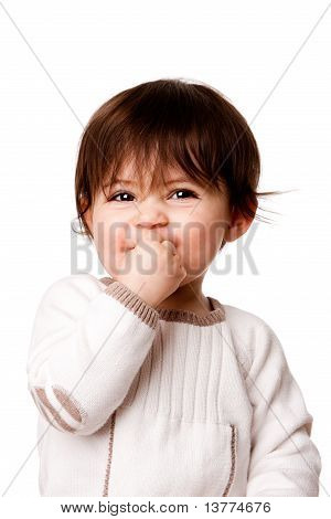 Cute Mischievous Baby Toddler Face