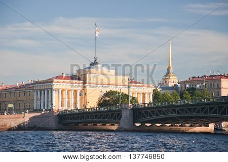 The building of the Main Admiralty in St. Petersburg