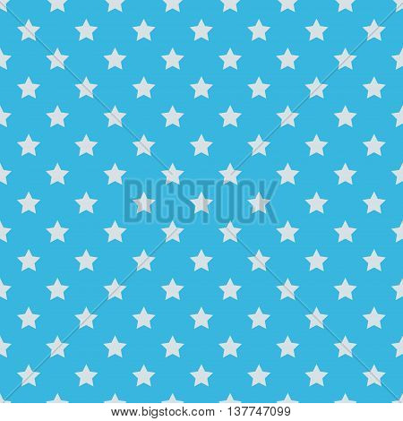 seamless pattern of stars. White stars on a blue background. Vector. textile background packaging printing website