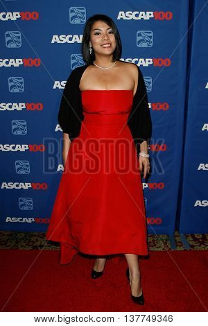 NEW YORK-NOV 17: Singer/songwriter Elizabeth Chan attends the ASCAP Centennial Awards at The Waldorf Astoria on November 17, 2014 in New York City.
