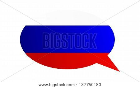 Conversation Bubble Of The Russian Federation