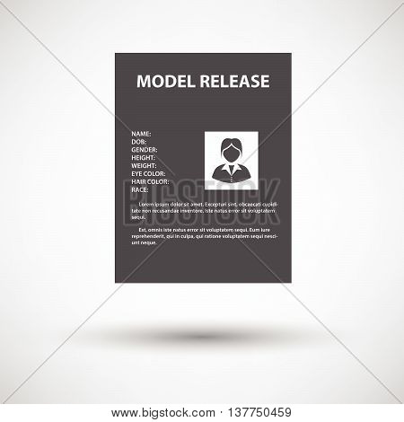 Icon Of Model Release Document