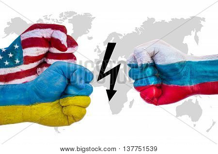 Usa And Ukraine Versus Russia