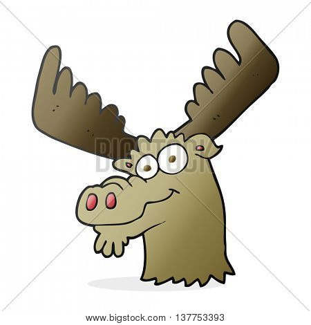 freehand drawn cartoon moose