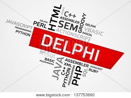 Delphi Word Cloud, Tag Cloud, Vector Graphics