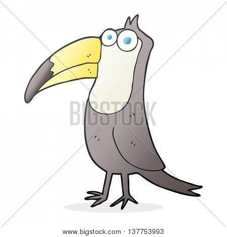 freehand drawn cartoon toucan