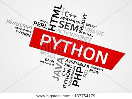 Python Word Cloud, Tag Cloud, Vector Graphics