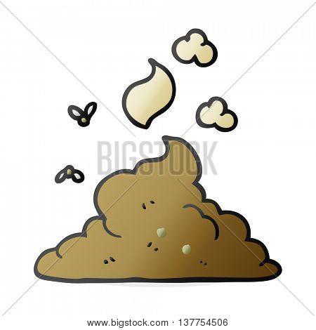 freehand drawn cartoon steaming pile of poop