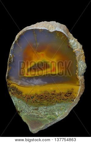 A cross section of the agate stone. Origin: Armenia.