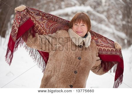 Mature Woman With  Babushka