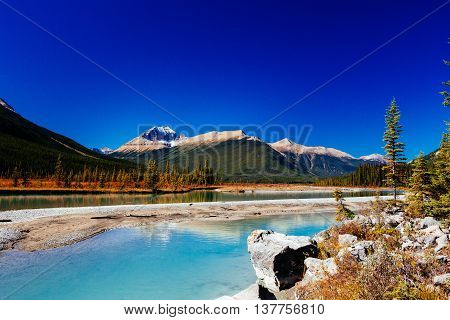 Sunwapta River, Jasper National Park In Alberta, Canada