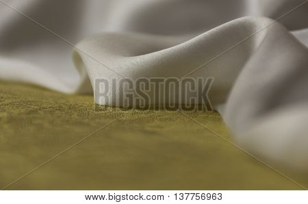 green white fabric silk linen soft texture soft to the touch material fabric sewing needlework textiles thread yarns table cloth napkins serving.