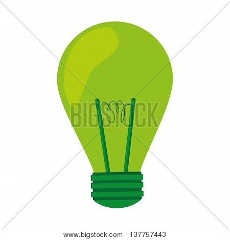 green light bulb lightbulb icon isolated vector illustration
