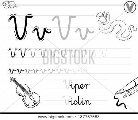 Learn To Write Letter V