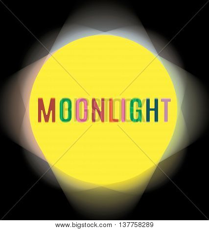 searchlights around the labels moonlight flower yellow