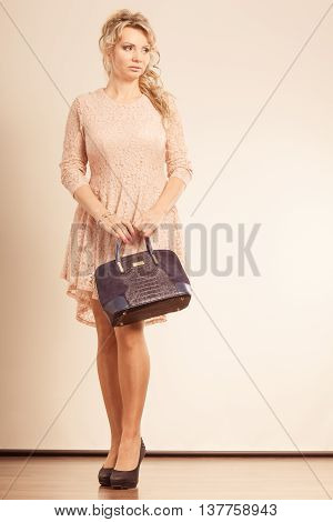Nice, Girly Female With Handbag.