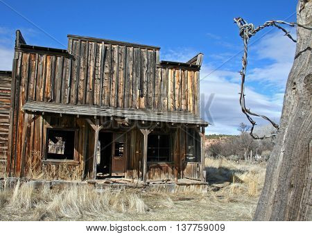Abandoned 19th Century General Store in Kanab, Utah