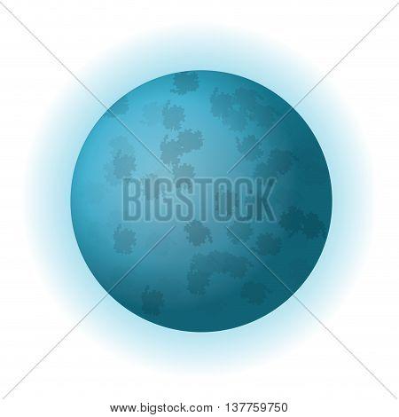 flat design planet uranus icon vector illustration