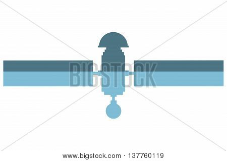 flat design single satelite icon vector illustration