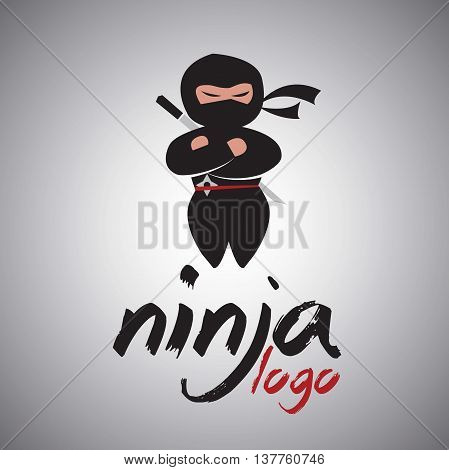 ninja logo 1 concept designed in a simple way so it can be use for multiple proposes like logo ,marks ,symbols or icons.