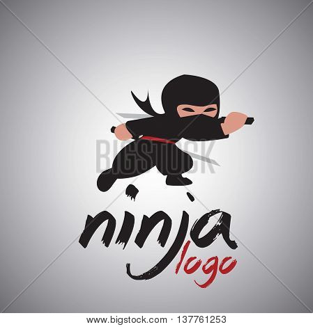 ninja logo 4 concept designed in a simple way so it can be use for multiple proposes like logo ,marks ,symbols or icons.