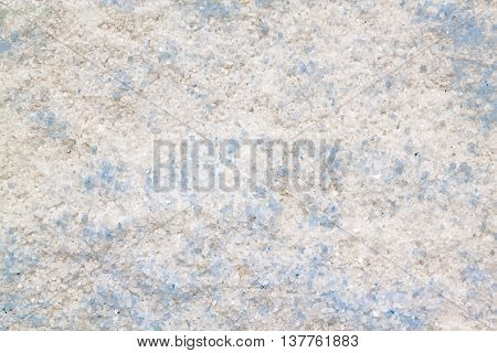 White salt with some light blue background
