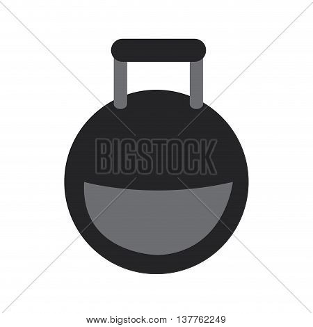 flat design kettlebell weight icon vector illustration