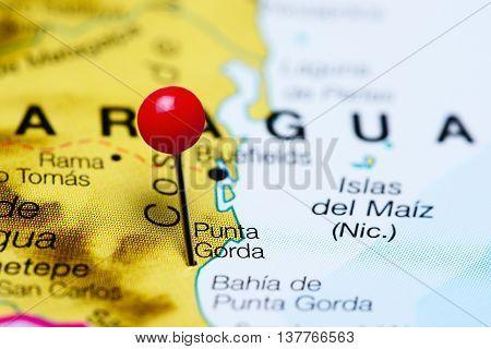 Punta Gorda pinned on a map of Nicaragua