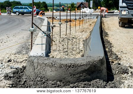 New Curb Construction